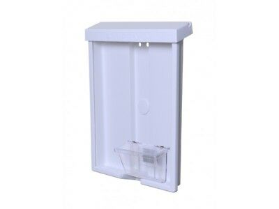 """White Acrylic 8-1/2""""W x 11""""H Literature Holder with Ad Box – Outdoor"""
