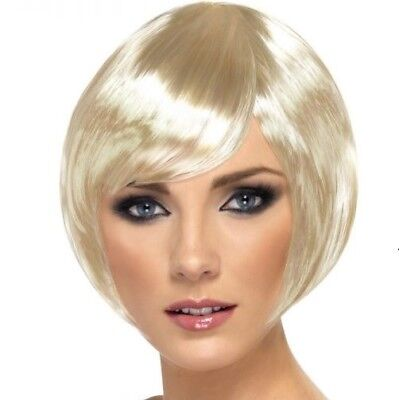 Ladies Fancy Dress Bob Wig Babe Blonde Hen Party Brand New by Smiffys.