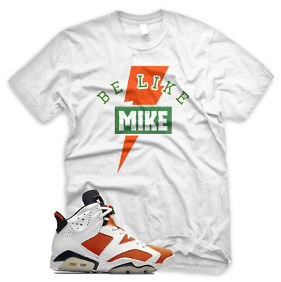 36a9d942dfbafe New BLM T Shirt for Jordan Retro 6 VI Gatorade Be Like Mike Orange Grape  Blue