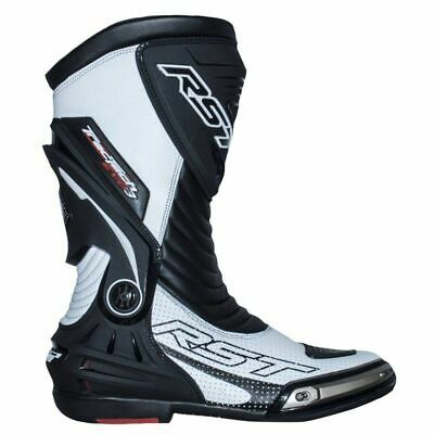 RST 2101 Tractech Evo III Sport Race CE Motorcycle Mens Boots - White/Black