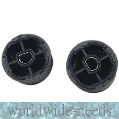 Black Rear Radio Volume Control Knob  2 Pcs For 07-13 Chevrolet GMC Cadillac