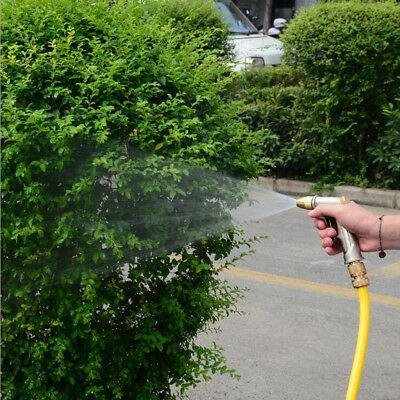 Silver High Pressure Power Car Garden Washer Spray Nozzle Water Gun Hose