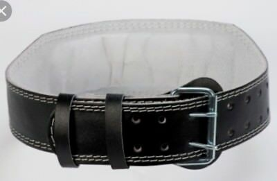"""Weight Lifting 4"""" Leather Belt Back Support Strap Gym Training Power"""