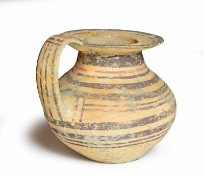 Native Italian Daunian pottery jar: Circa 525 BC.