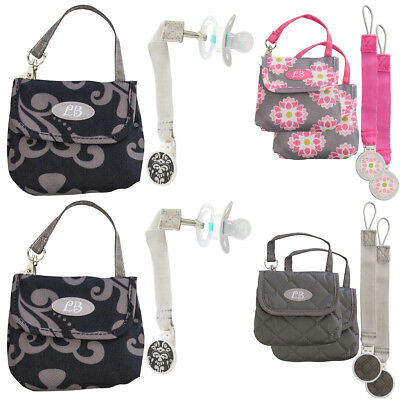 2pk Demdaco Pacifier Pouches Lilly Bit Baby Bag For Mom Small Holder Travel Tote