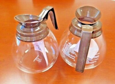 2pk - 12 Cup Commercial Coffee Pots/Carafes/Decanters for BUNN - BROWN (Regular)