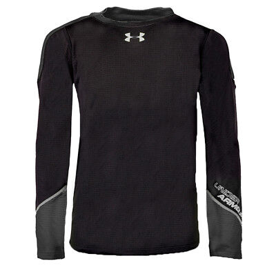 Under Armour Boys' UA ColdGear Infrared Grid Hybrid Fitted L/S Shirt