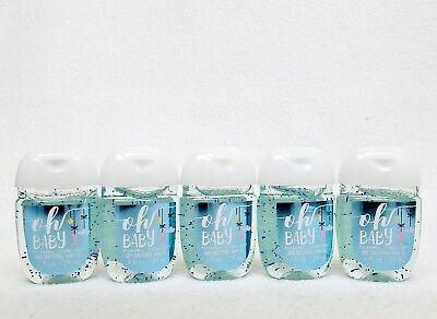 5 Bath & Body Works OH BABY - CLEAN SOFT PocketBac Hand Gel Sanatizer
