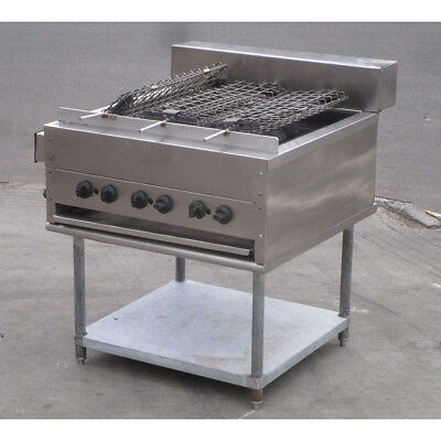 Attias Double Sided Rotating Heavy Duty Radiant Broiler Grill, Used Very