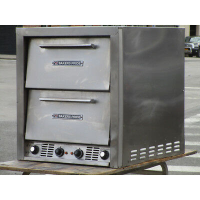 Bakers Pride P44 Electric Pizza / Pretzel Two Compartment Oven, Used