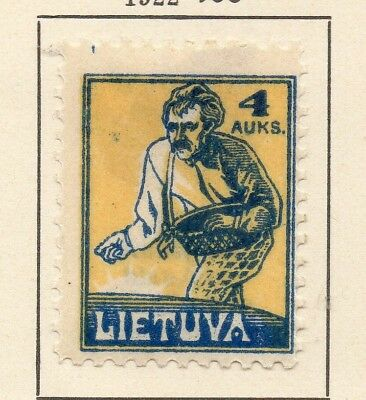 Lithuania 1922 Early Issue Fine Mint Hinged 4A. 232046