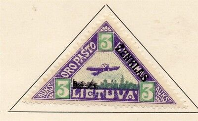 Lithuania 1922 Early Issue Fine Mint Hinged 3A. 232059