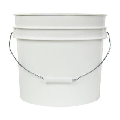 White 3.5 Gallon HDPE Bucket