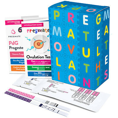 PREGMATE 20 Ovulation LH and 4 Progesterone PdG Test Strips Predictor Kit