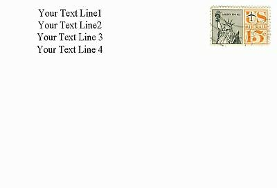 Design Your Own Personalized Self-Inking Rubber Return Address Stamp to 6 lines