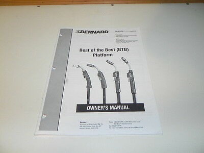 Owners Manual Bernard semi-automatic; Air Cooled Mig Welding gun