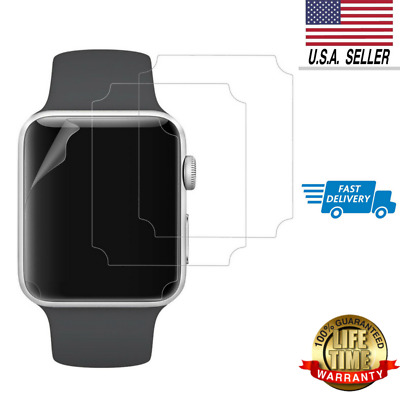 3-Pack Apple Watch Screen Protector 42mm for Series 3 2 1 Self-healing TPE HD