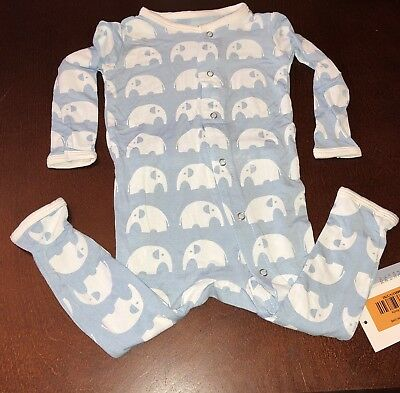 Kickee Pants Pond Elephant Infant Boy Coverall 6-12 Months New