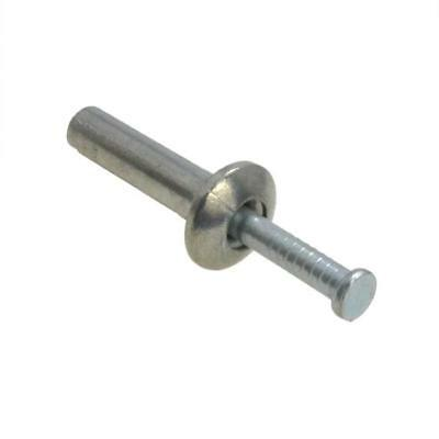 Qty 5000 Metal Pin Anchor M6.5 (6.5mm) x 50mm Zinc Alloy Mushroom Nail Knock In