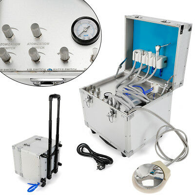 Dental Delivery Unit Portable Rolling Case Powerful Built-inoilless Compressor