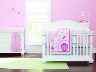 New Baby Girls Boys 6 Pieces Cotton Nursery Bedding Crib Cot Sets