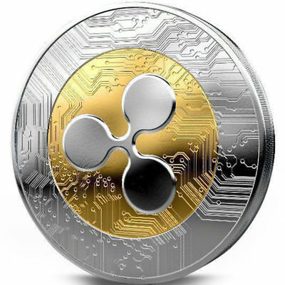 Gold&Silver Plated Ripple coin XRP CRYPTO Commemorative Ripple XRP Collectors X1