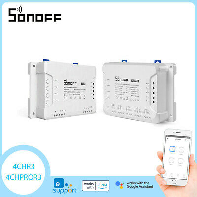 Sonoff 4CH Pro 4 Wege Montage WiFI Wireless Smart Switch 433MHz Fernbedienung