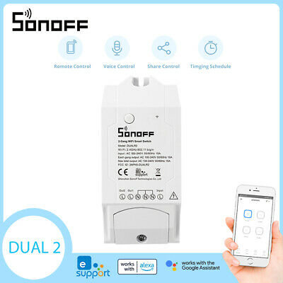 Sonoff ITEAD Dual 2 Gang Smart Home WLAN Wireless Switch Modul für Apple Android