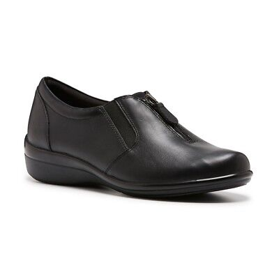 New Womens Hush Puppies Onika Black Ladies Leather Casual Comfort Shoes