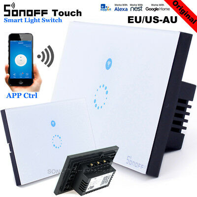 Sonoff Smart Home Wall Light Touch Wireless Controller Switch WIFI LED Lamp UK