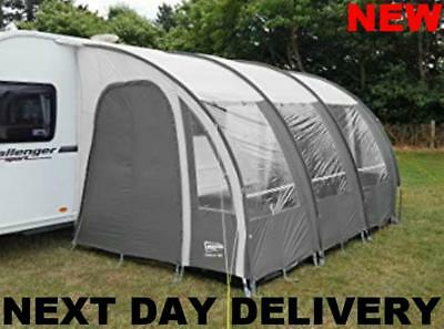 New 2018 Charcoal Ontario 390 Ultima'te Caravan Porch Awning +Uprights & Pads
