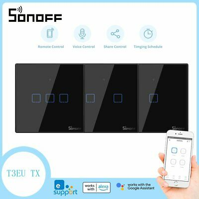 Sonoff T1 1/2 Gang Smart WiFi EU Panel Berührungsschalter Wand Retome Ctrl Light