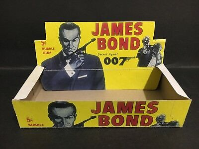 James Bond 007 Trading Card Box Reproduction From 1965