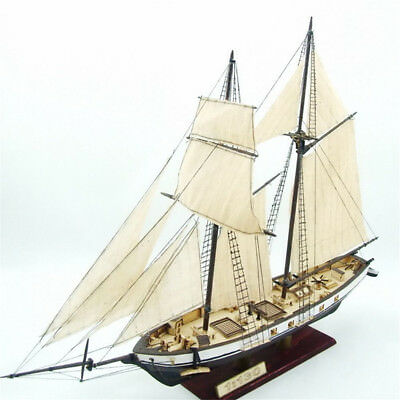 Wooden Sailing Boat Model DIY Kits 1:130 Scale Ship Assembly Classical Toy Decor