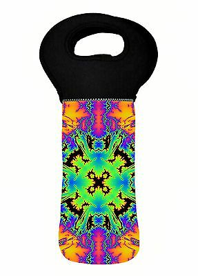 Fractal Psychedelic Wine Bottle Cooler Carry Bag