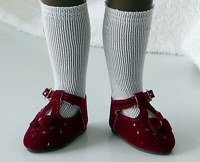 **maroon Suede Shoes For Your Sasha Doll**