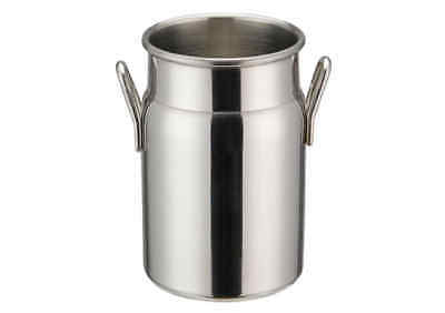 Winco DDSD-102S, 3-1/8-Inch Dia Stainless Steel Mini Milk Can, 2 Handles