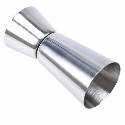 Stainless Steel Cocktail Drink Cup Double Single Shot Measure Jigger Spirit Bar