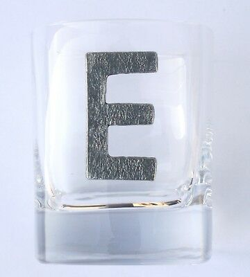 Personalised Letter Pair of Tumblers Crystal Glasses Presentation Boxed Gift