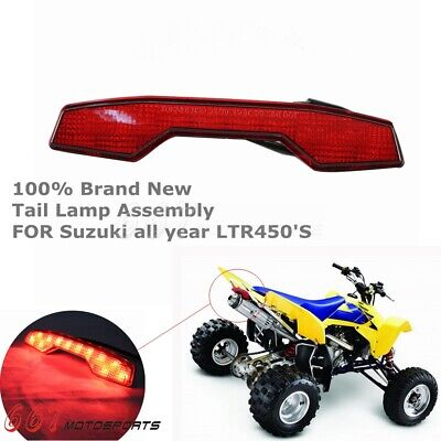 Red Lens LED Rear Brake Tail Lights Lamp Assembly For Suzuki LTR450 All Year