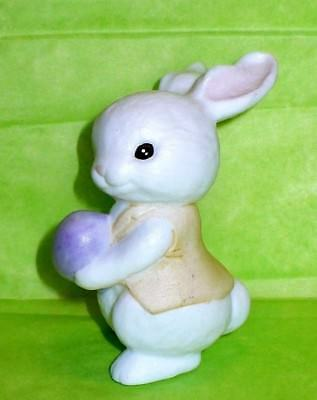 Vintage Easter Miniature Bone China Rabbit Bunny With Egg Figurine