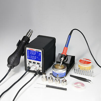 Yh 995D+ High Precision Lcd Display 2 In 1 Hot Air Rework Soldering Iron Station
