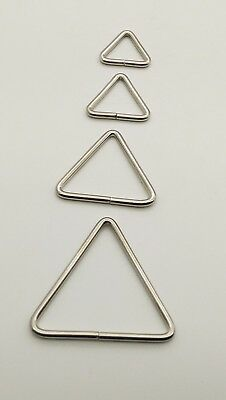 TRIANGLE Metal Loop Rings Wire Formed Buckles for Webbing Strap Tape Bag CRAFT