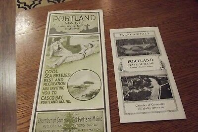 Vintage Chamber Commerce Portland Maine  Travel  Brochure