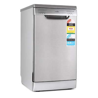 Freestanding Space Saving 45cm Dishwasher Stainless Steel 9 Place Settings