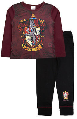 Boys Girls Harry Potter Gryffindor Pyjamas Kids Long PJ 2 Piece Set Hogwarts