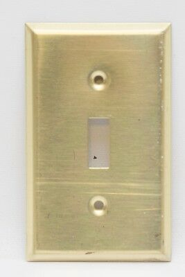 Vintage Polished Solid Brass Electric Wall Single Switch Plate Covers
