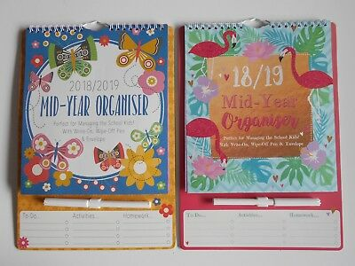2018 2019 A4 Academic Planner, Academic Calendar With Write-on, Wipe off pen