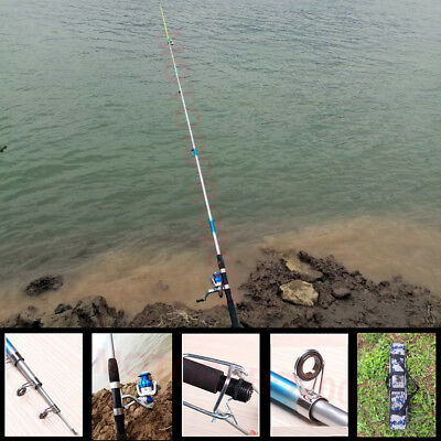 2.7M Saltwater Fishing Rod And Reel Spinning Combo Full Kit Line Hook Bag Lead