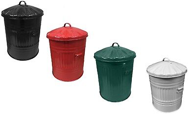 LARGE 65litre Metal Bin Mini Rubbish Waste Paper Bathroom Bedroom Colour Dustbin